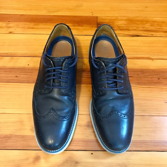 7f3b47d7752 Men s Cole Haan Navy Blue Grand Oxfords (Size 10)
